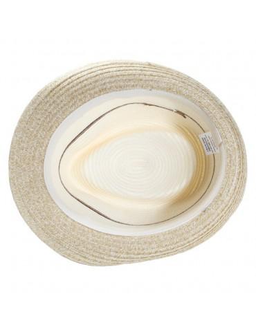 chapeau paille trilby 3 couleurs