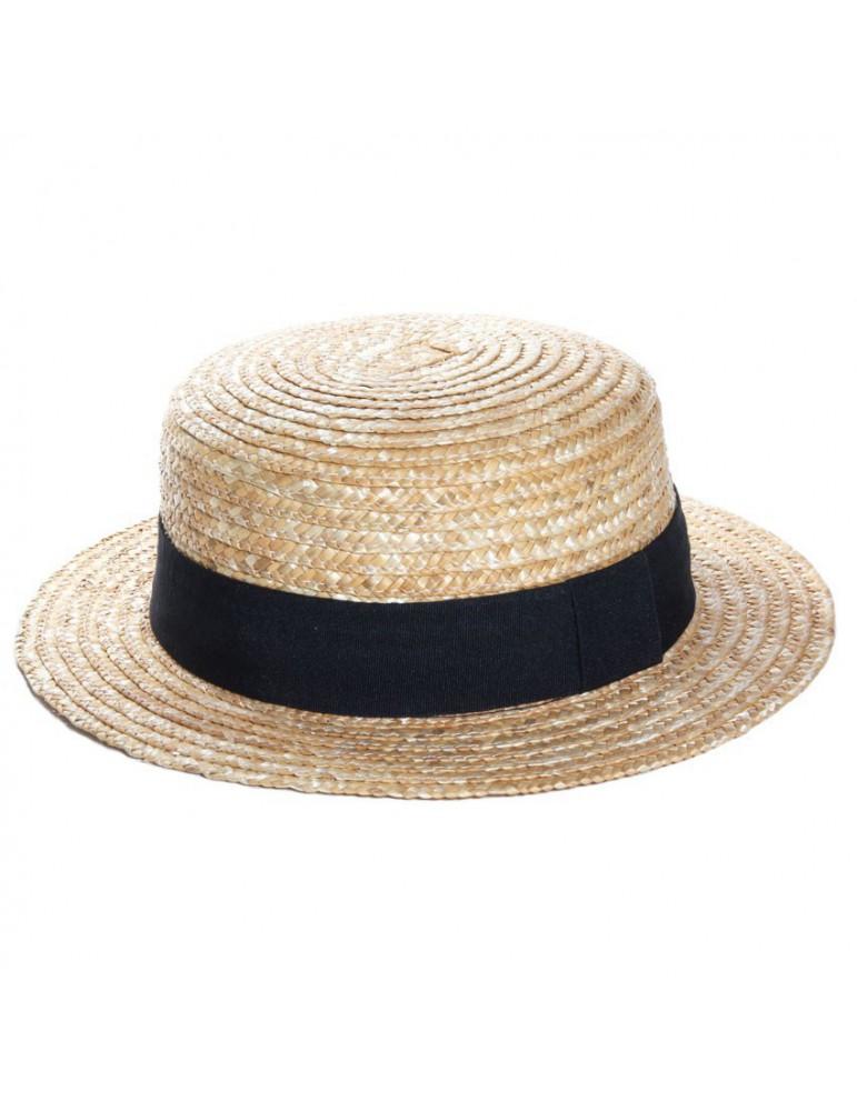 chapeau de paille canotier
