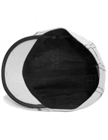 Casquette d'été lin gris doublée coton