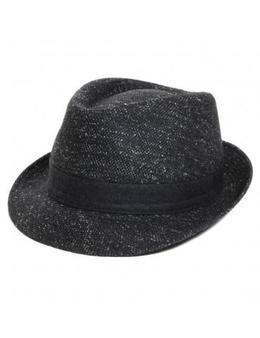 chapeau laine noir