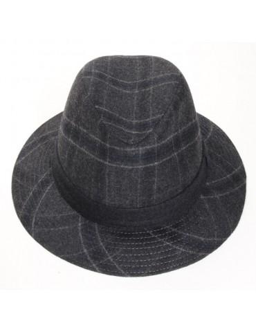 chapeau feutre écossais coloris gris anthracite