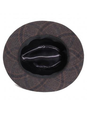 chapeau feutre écossais coloris marron