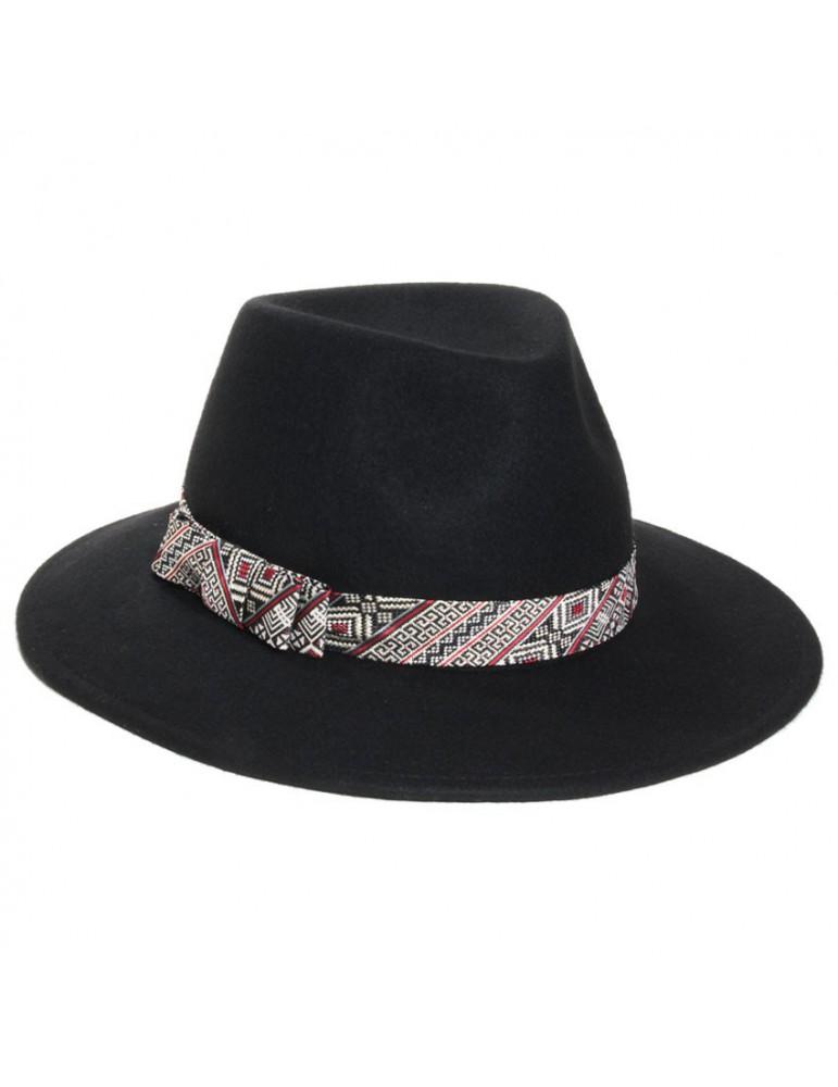 chapeau feutre femme coloris noir
