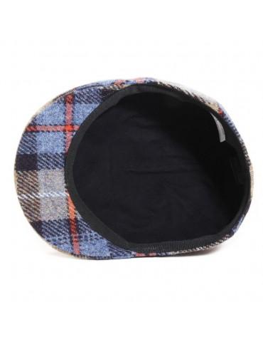 casquette formée Harris tweed écossaise