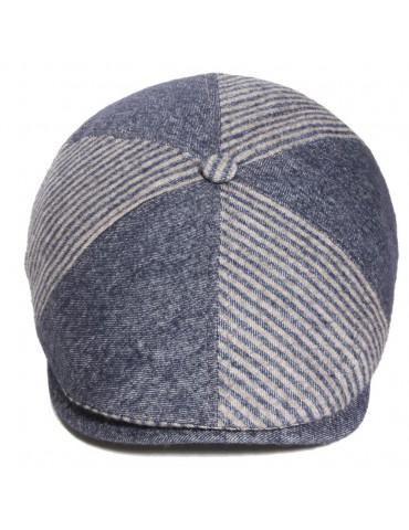 casquette laine et coton bleu jeans
