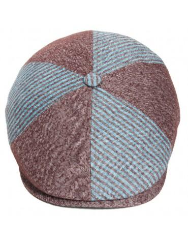 casquette plate mi-saison en laine et coton avec bouton