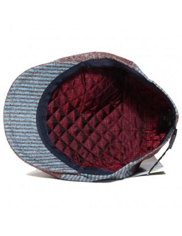 casquette plate mi-saison en laine et coton doublée polyester