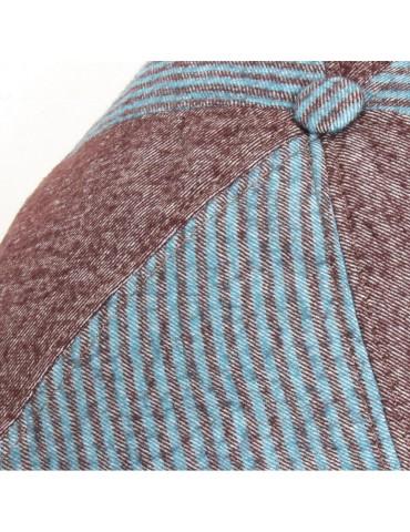casquette plate mi-saison en laine et coton
