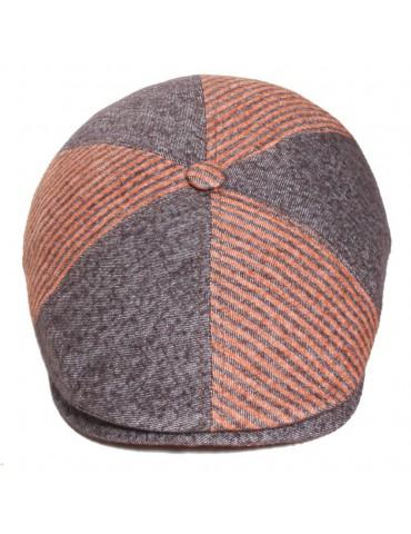 casquette laine et coton mi-saison coloris taupe