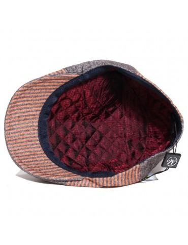 casquette laine et coton mi-saison coloris taupe doublure matelassée