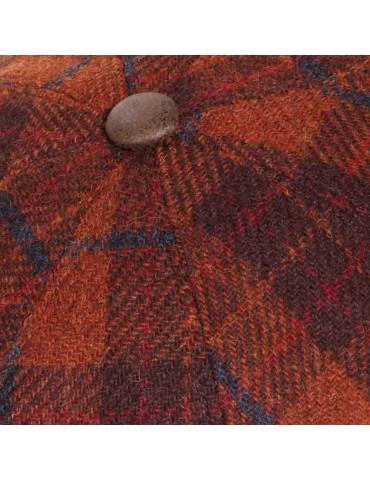 casquette laine Harris Tweed coloris brique