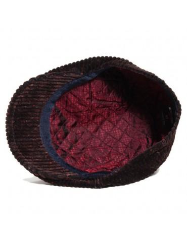 casquette velours marron doublure matelassée