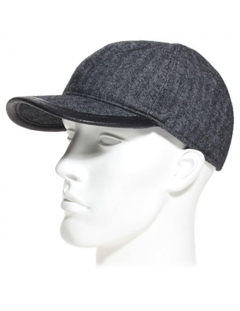 casquette américaine en pure laine vierge coloris grise