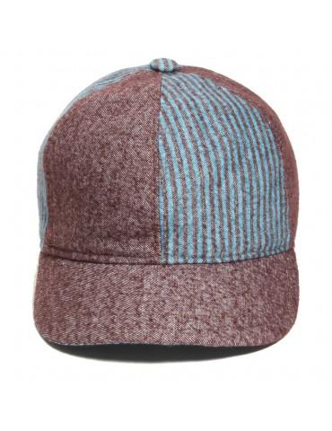casquette baseball deux tons en laine et coton