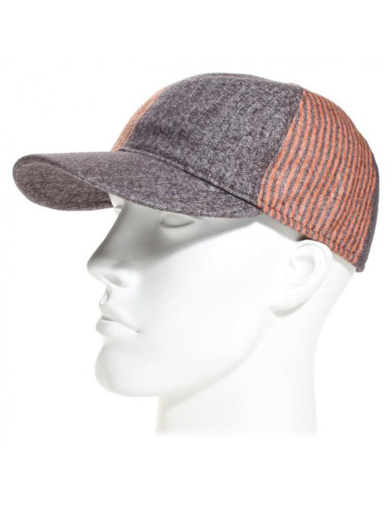 casquette baseball laine et coton demi saison coloris taupe
