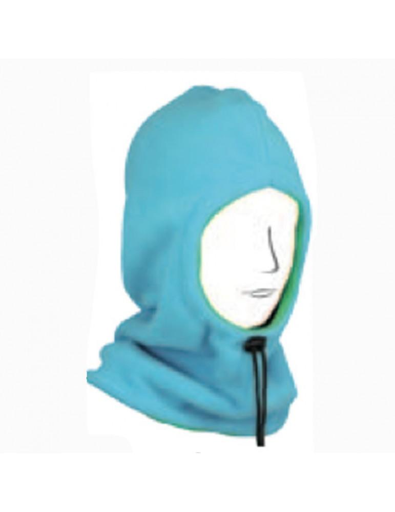 cagoule polaire enfant coloris bleu turquoise réversible