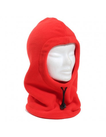 Cagoule polaire bebe rouge