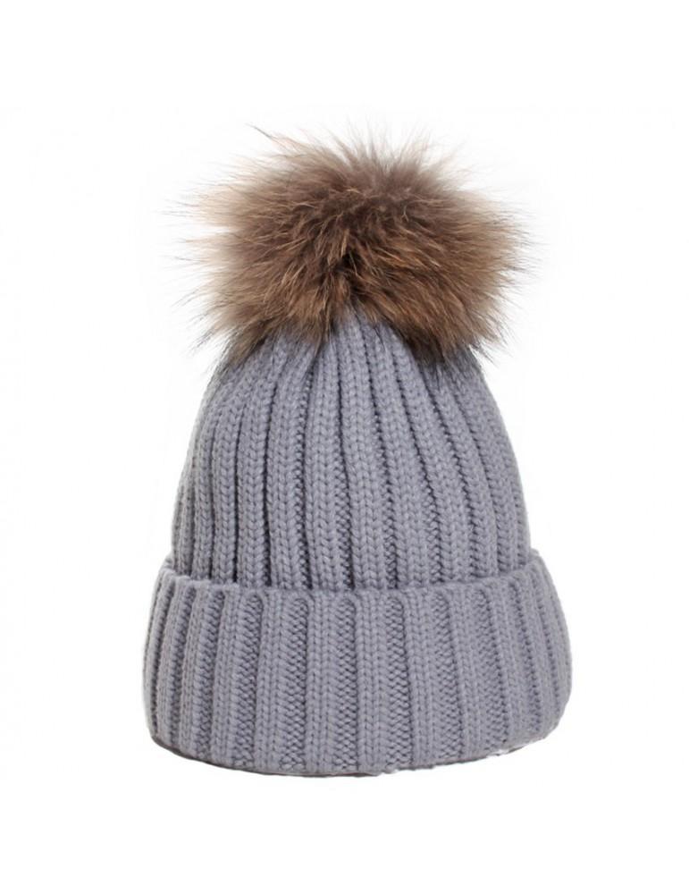 bonnet acrylique coloris gris