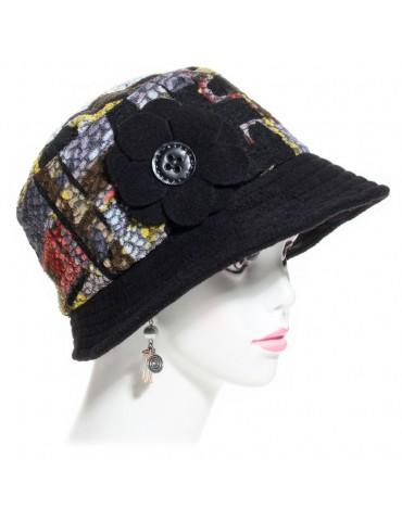 chapeau femme multicolore