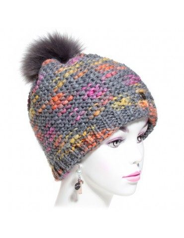 bonnet laine multicolore