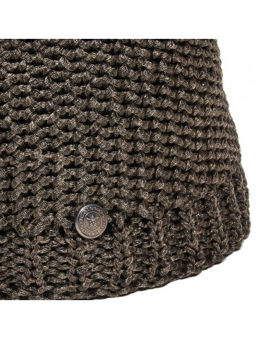 maille laine imitation métal cuivré
