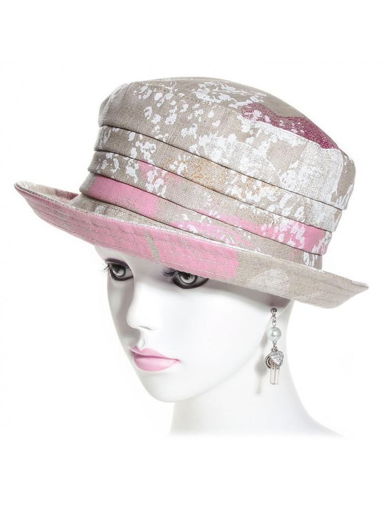 chapeau de pluie en lin imprimé