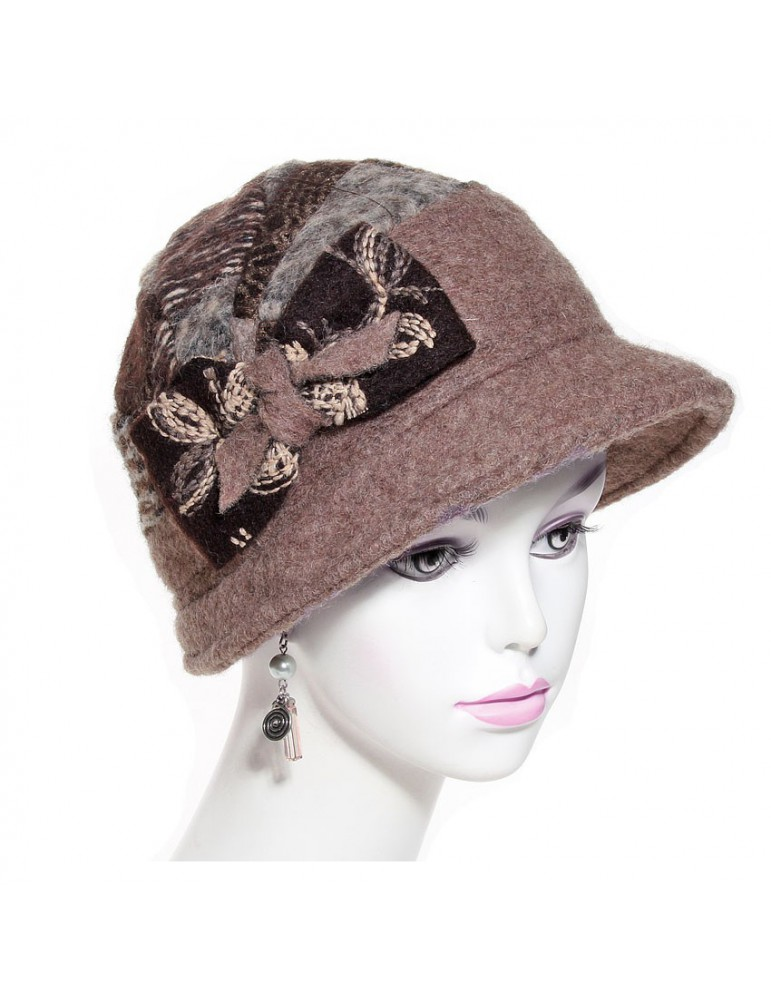 chapeau femme laine marron