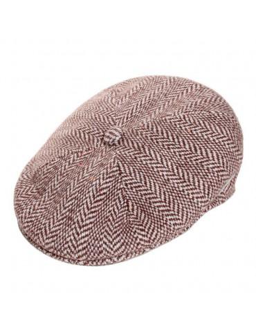 casquette laine jacquard marron de chez Kangol