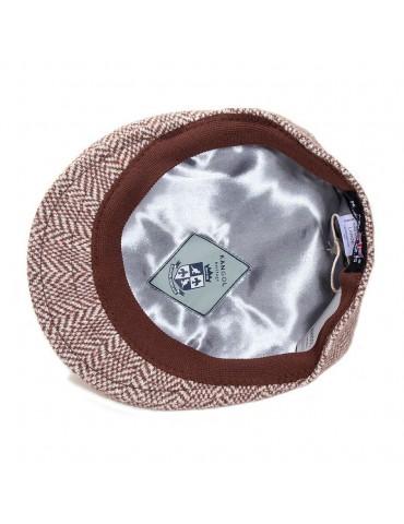 casquette laine jacquard marron de chez Kangol doublure satinée