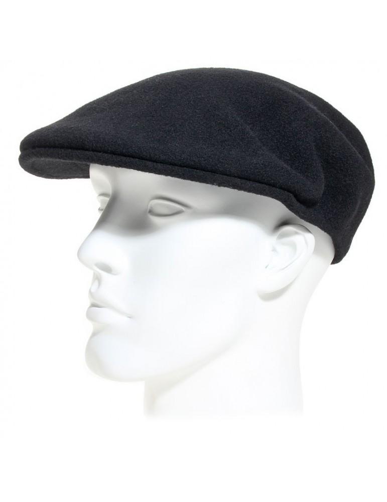 5c9df4496fbd0 Casquette plate laine vierge - Wool 504 Cap black Kangol