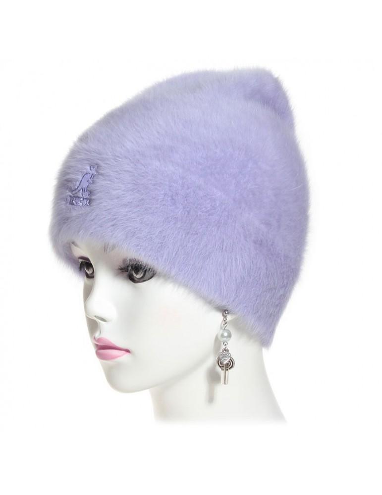 bonnet angora coloris lilas