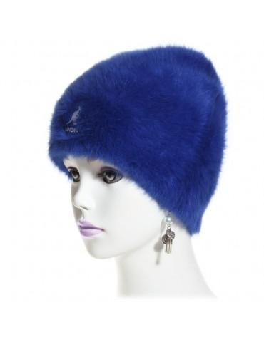 bonnet angora bleu marin