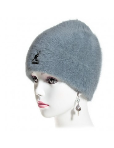 bonnet angora gris marque Kangol