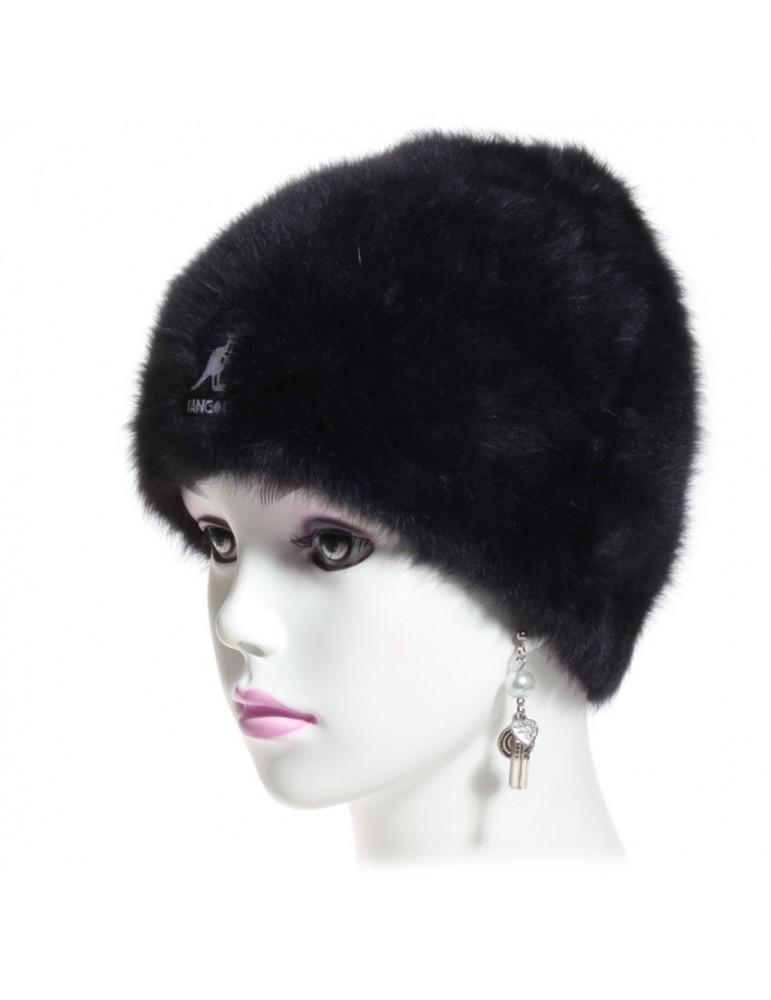 bonnet angora noir marque Kangol