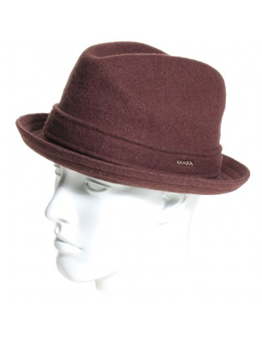 chapeau pork pie Kangol coloris tabac