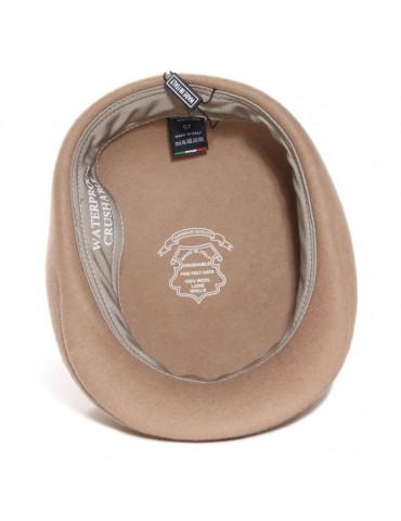 casquette feutre laine beige waterproof et crushable