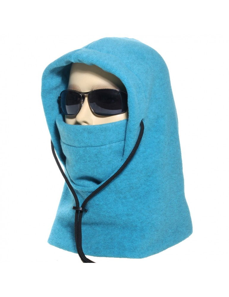 cagoule polaire made in France coloris turquoise