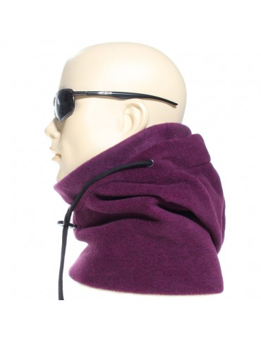 Cagoule polaire made in France coloris violet