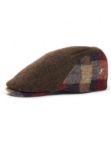 casquette plate en laine vierge coloris marron pins Fléchet