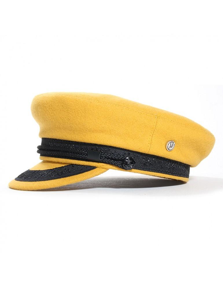 casquette marin jaune cannelle