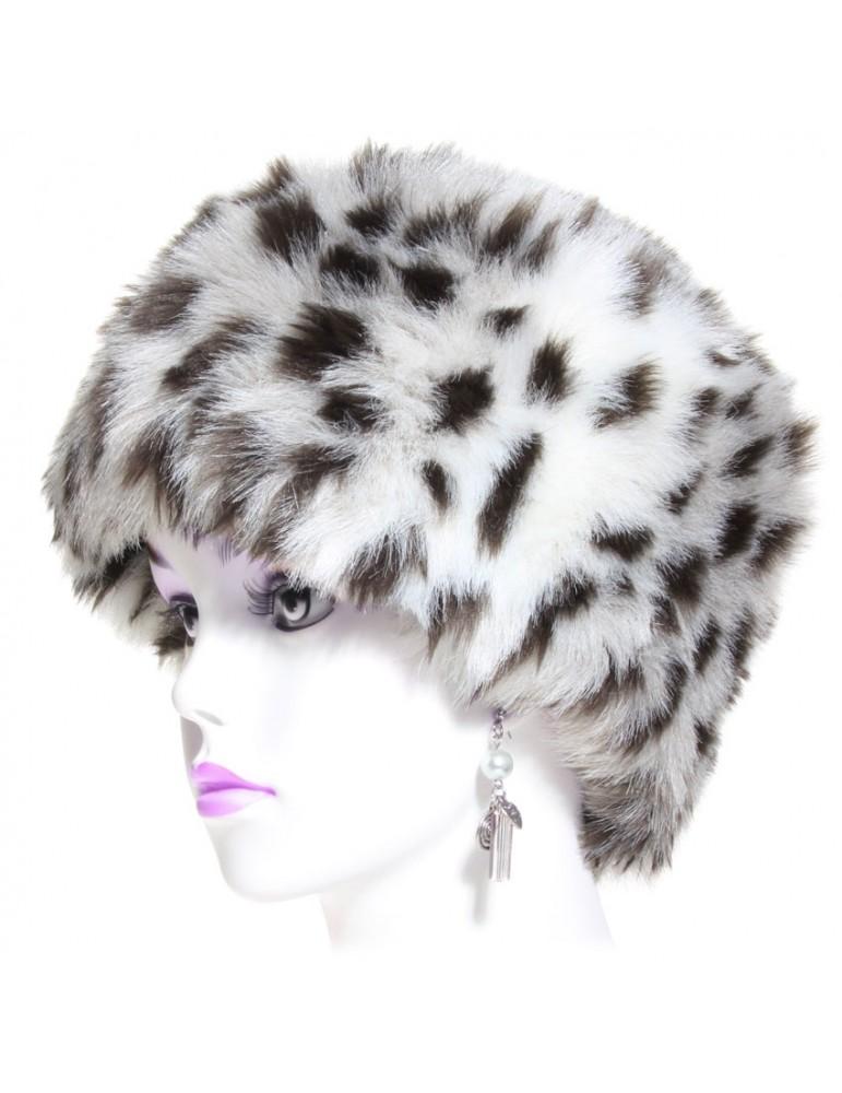 Toque fausse fourrure léopard