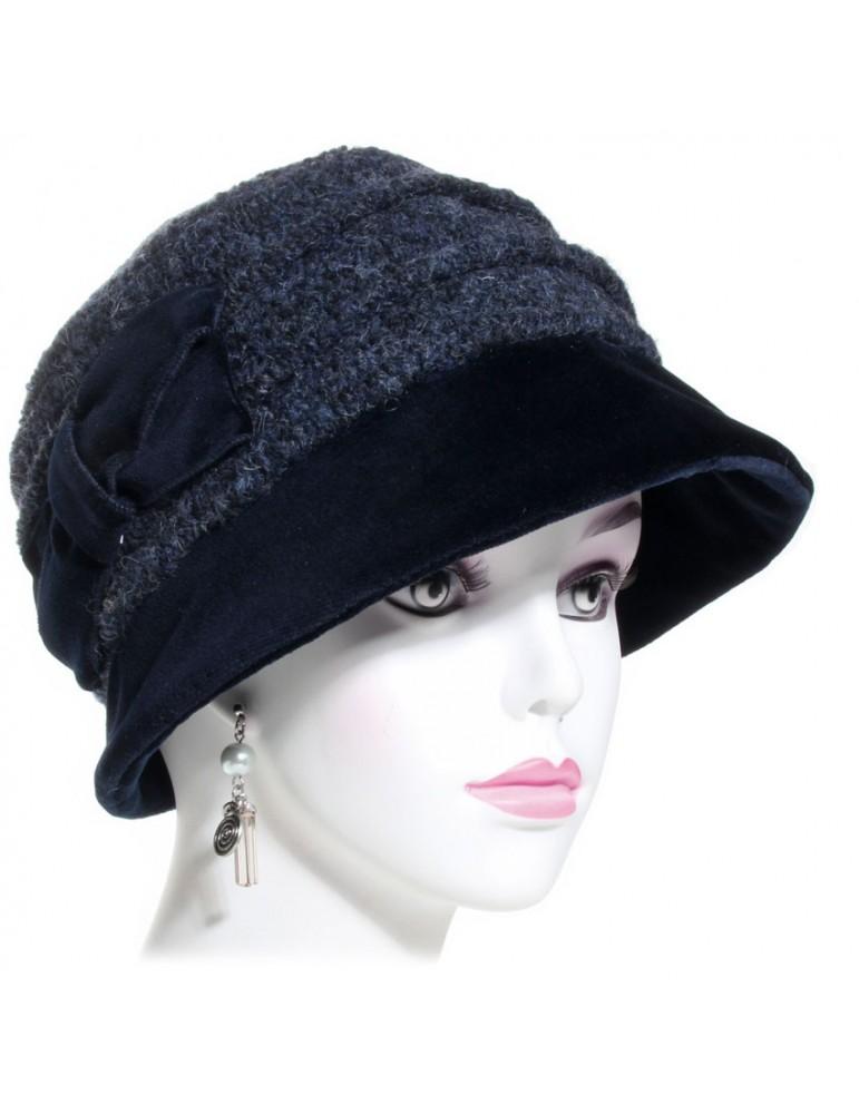 chapeau femme noir et gris