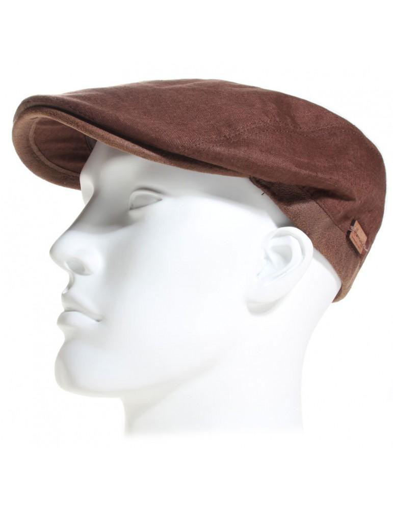 casquette en lin coloris marron