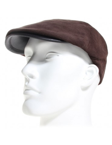 casquette velour marron