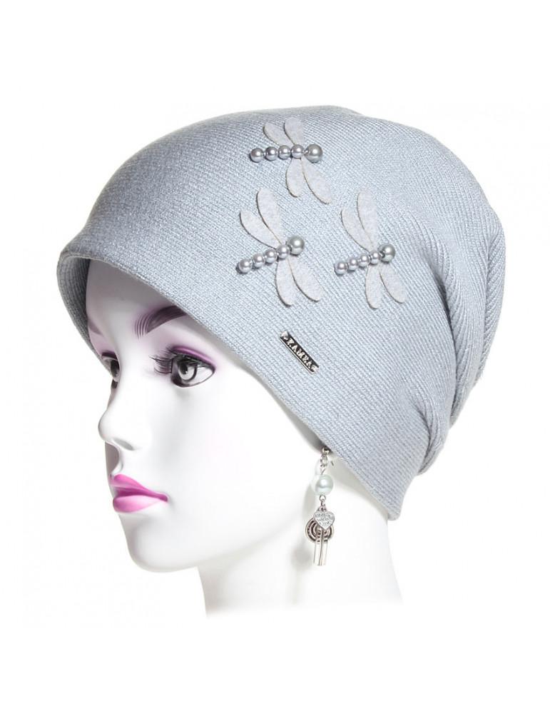 bonnet pincé trois plis gris