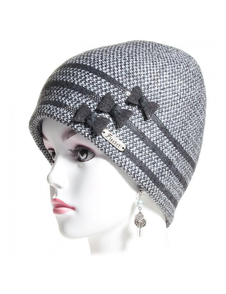 bonnet laine et alpaga gris