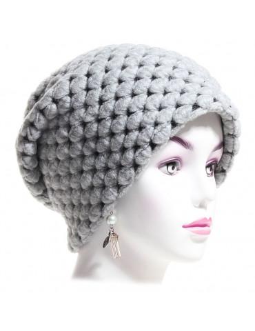 bonnet laine gris