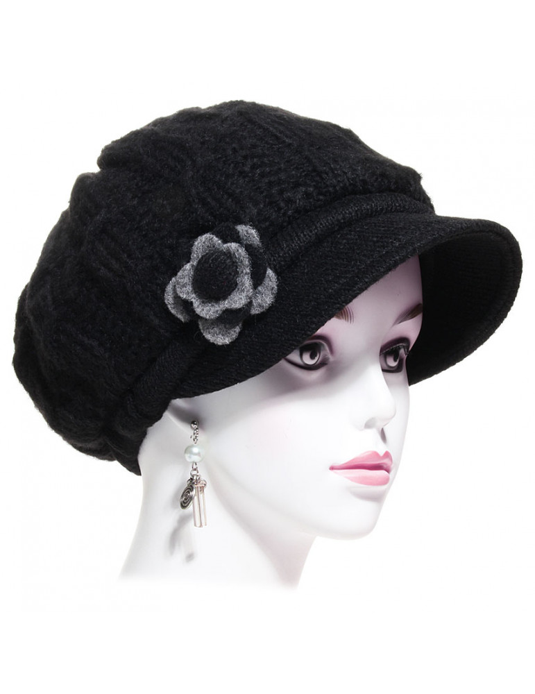 casquette gavroche laine noir