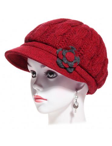 casquette gavroche laine rouge