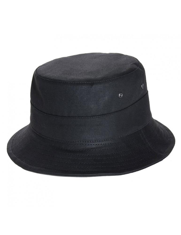 bob pluie coton huilé noir